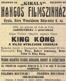 King Kong - A világ nyolcadik csodája