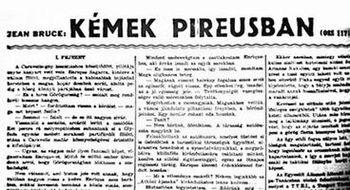 Kémek Pireusban k