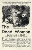 David H. Keller: The Dead Woman