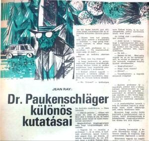 Jean Ray: Dr. Paukenschläger különös kutatásai