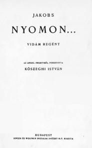 W. W. Jacobs: Nyomon