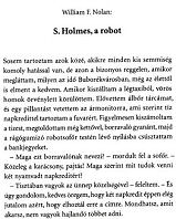 William F. Nolan: S. Holmes, a robot