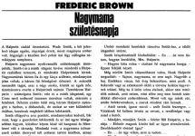 Fredric Brown: Nagymama születésnapja