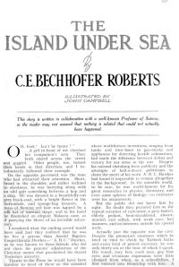 Bechhofer Roberts: The island under sea