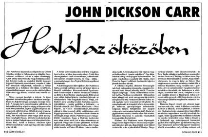 John Dickson Carr: Halál az öltözőben