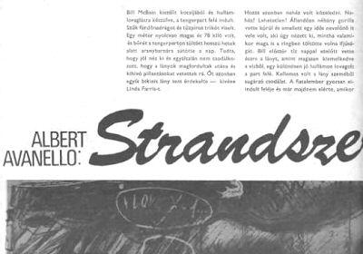 Strandszerelem - Albert Avanello