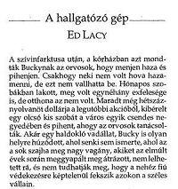 A hallgatóző gép - Ed Lacy