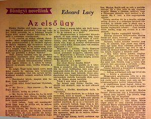 Az első ügy - Ed Lacy
