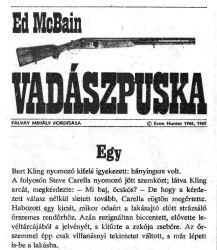 Ed McBain: Vadászpuska