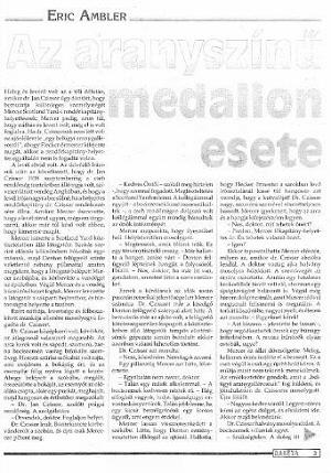 Az aranyszínű medalione sete - Eric Ambler