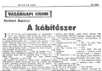 Herbert Harris: A kábítószer