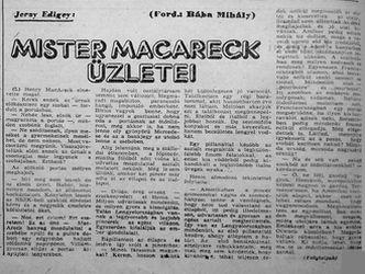 Jerzy Edigey - Mister Macareck üzletei