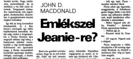 John D. MacDonald: Emlékszel Jeanie-re?
