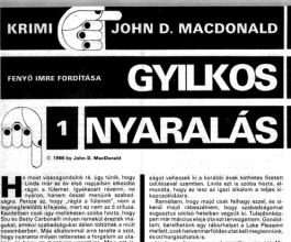 John D. MacDonald: Gyilkos nyaralás