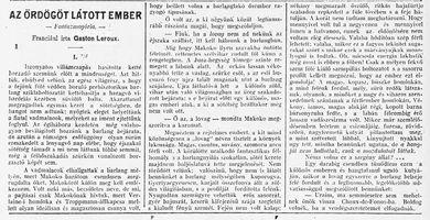 Az ördögöt látott ember - Budapesti Hírlap k