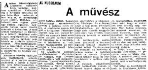 Al Nussbaum: A művész