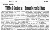 Bill Pronzini: Tökéletes bankrablás