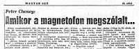 Peter Cheyney: Amikor a magnetofon megszólalt