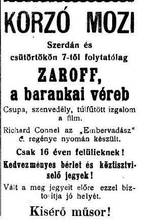 Zaroff, a barankai véreb