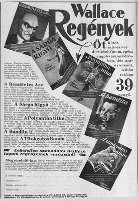 E. Wallace reklám (Képes Krónika 1928) k